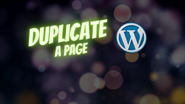 wordpress how to duplicate a page